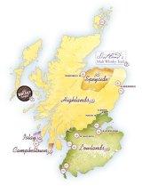 mappa distillerie scozia